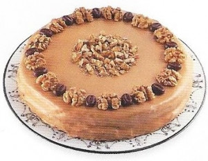 Coffee Walnut Torte