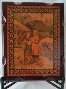 Kozak z divchunoyu plaque