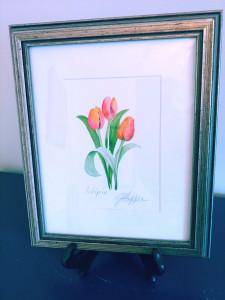 Tulip Watercolor by Jayne Hopper